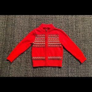 Oshkosh fair else wool blend red sweater size 3T